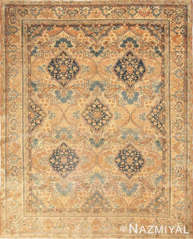 Full view antique Persian Kerman rug 44784 by Nazmiyal