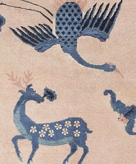 The Significance of Cranes as Symbols in Chinese Art and Carpets