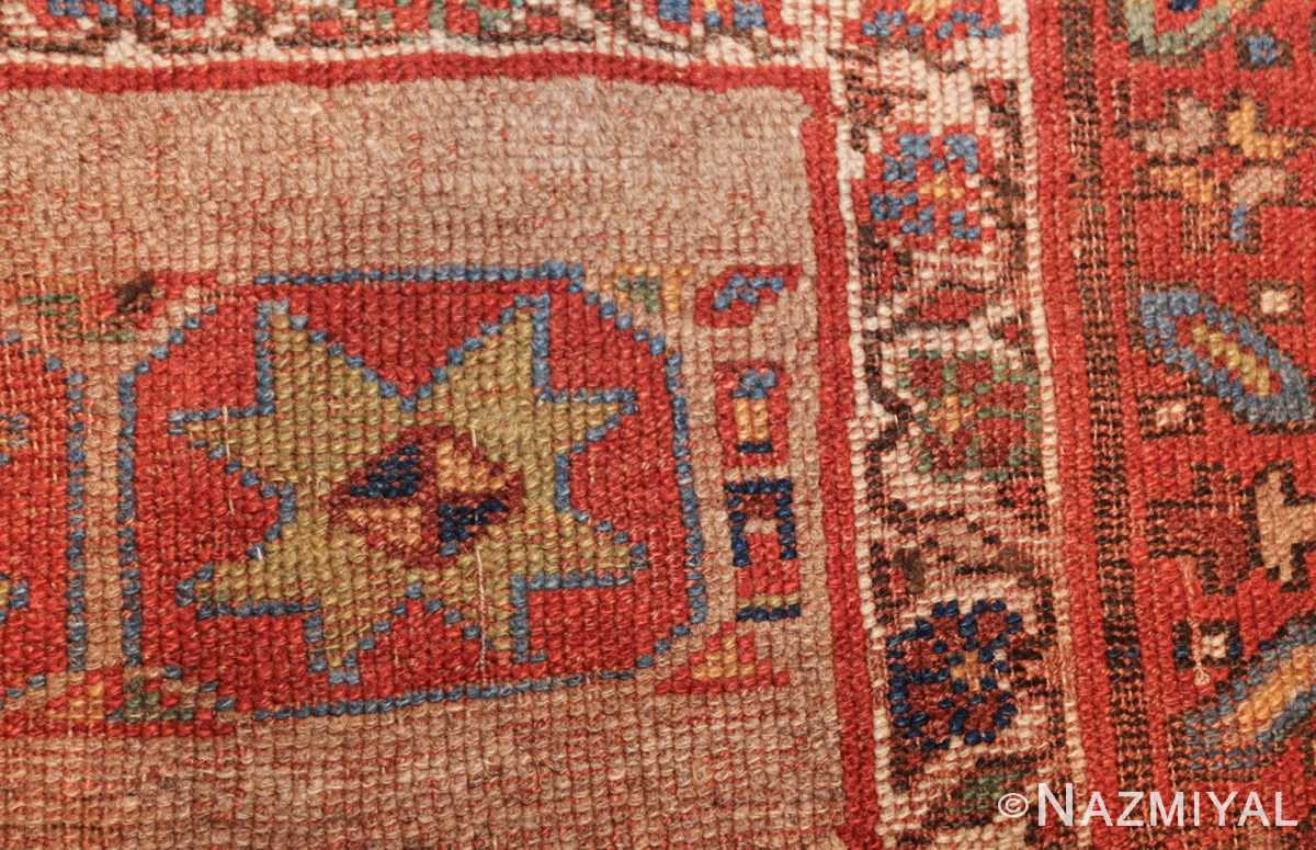small scatter size tribal antique persian kurdish rug 44932 design Nazmiyal
