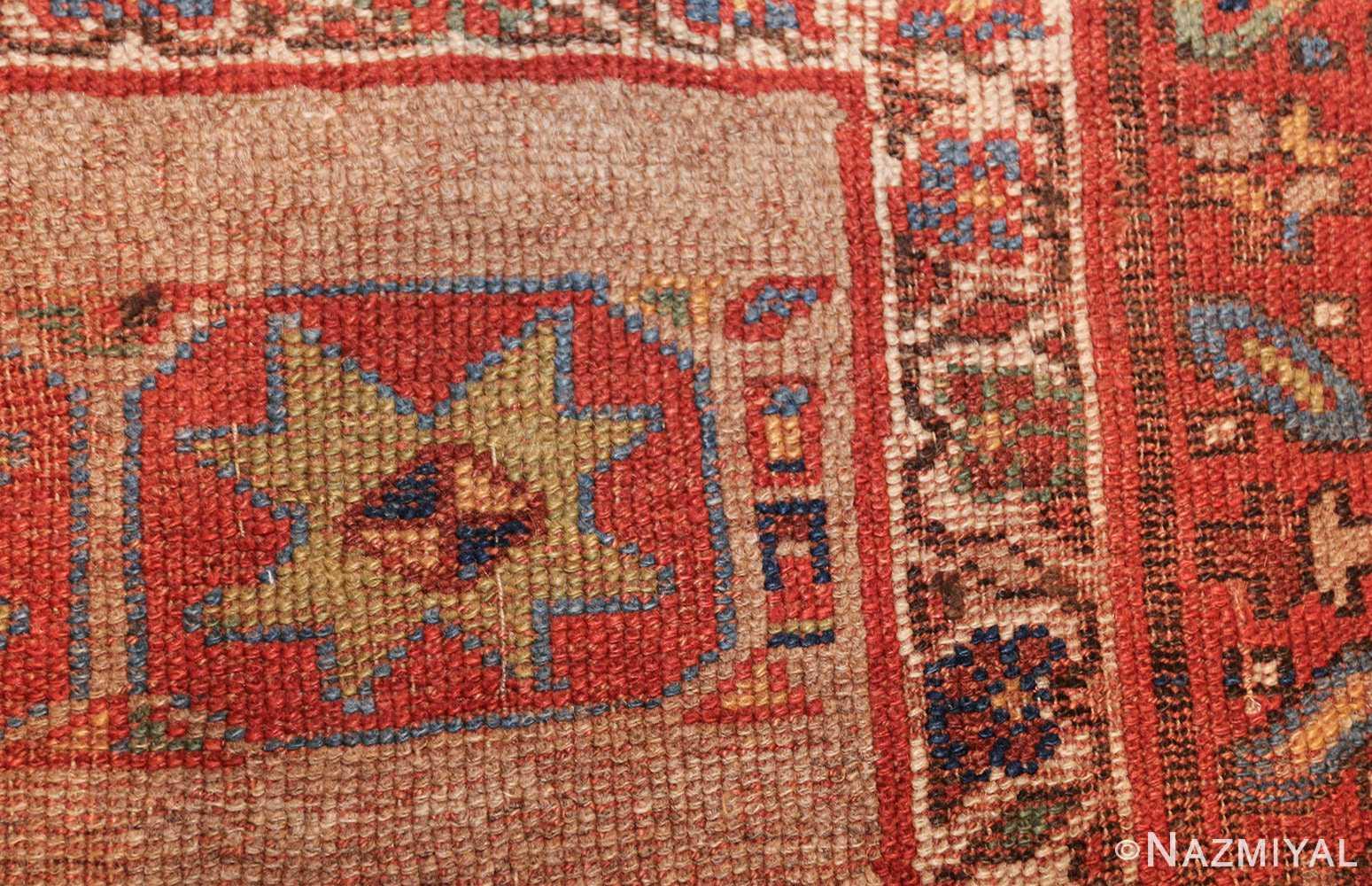 small scatter size tribal antique persian kurdish rug 44932 design Nazmiyal