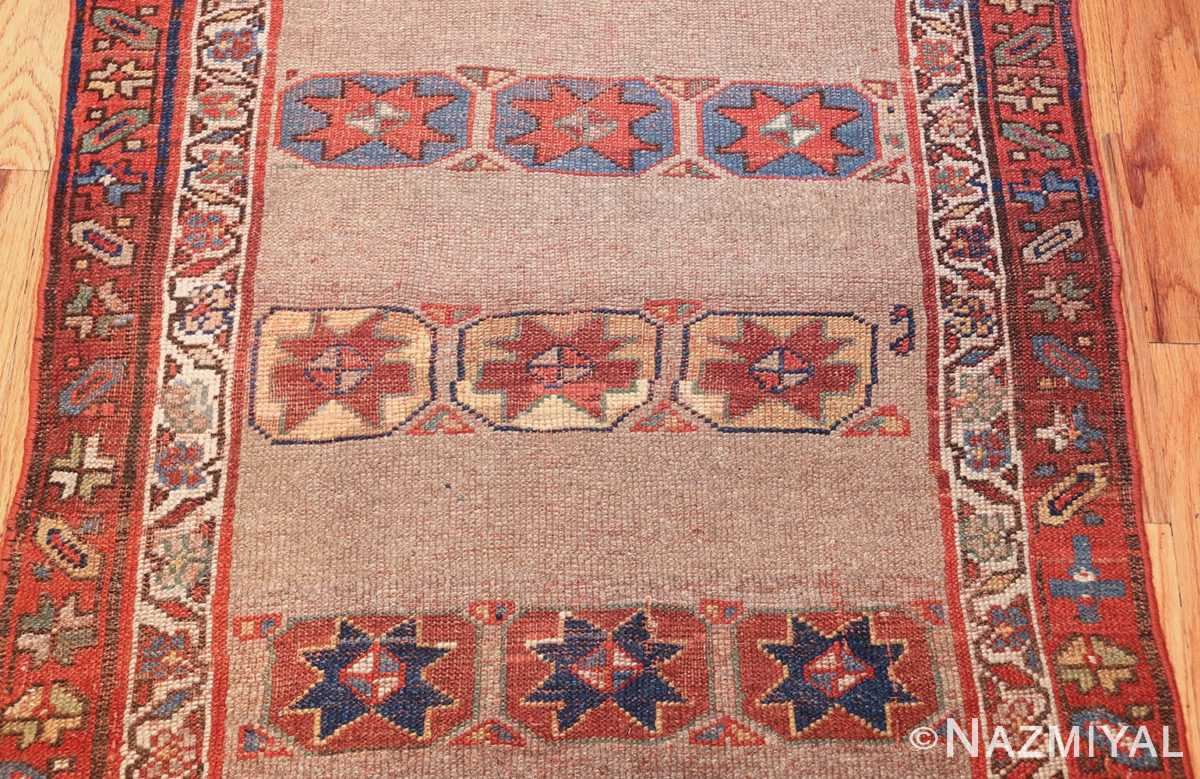 small scatter size tribal antique persian kurdish rug 44932 field Nazmiyal