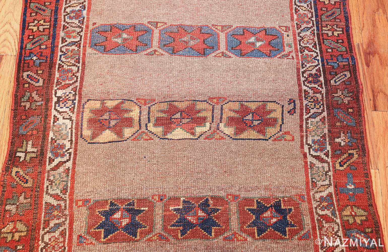 small scatter size tribal antique persian kurdish rug 44932 field Nazmiyal