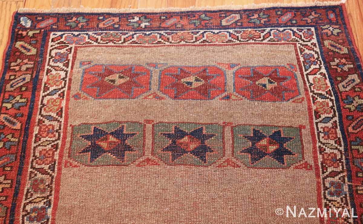 small scatter size tribal antique persian kurdish rug 44932 top Nazmiyal