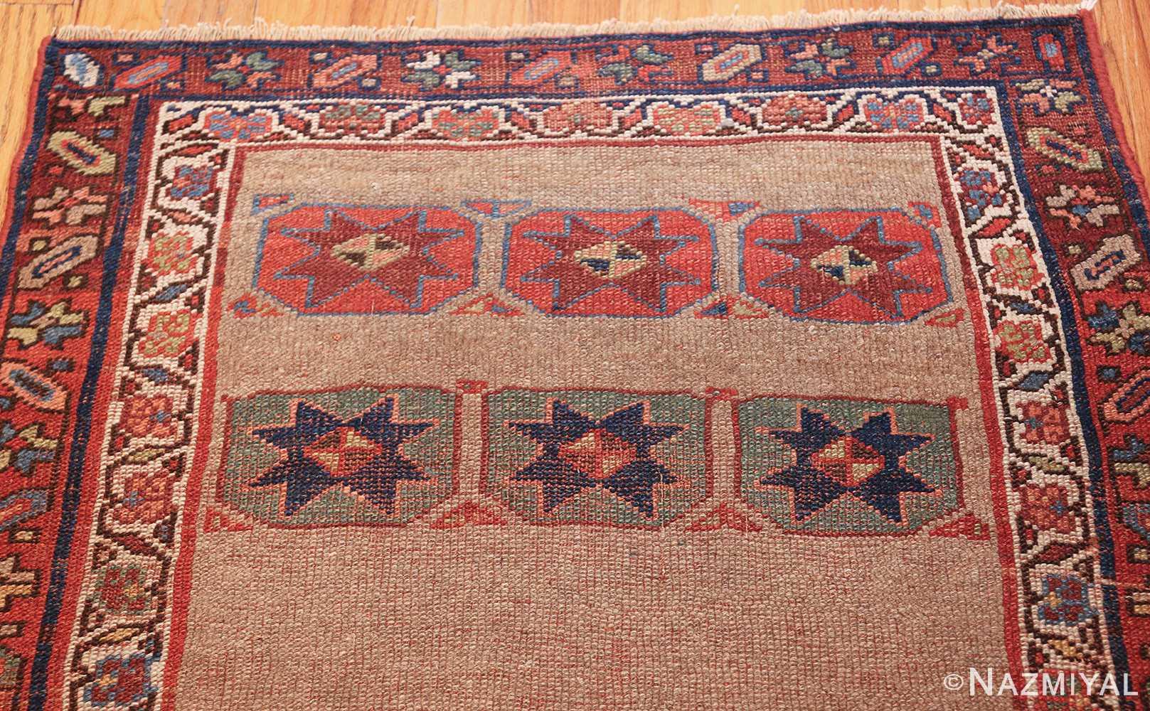small scatter size tribal antique persian kurdish rug 44932 top Nazmiyal