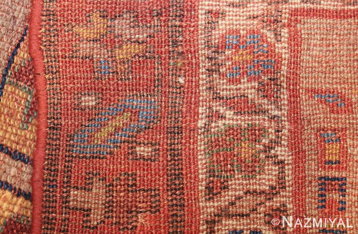 small scatter size tribal antique persian kurdish rug 44932 weave Nazmiyal