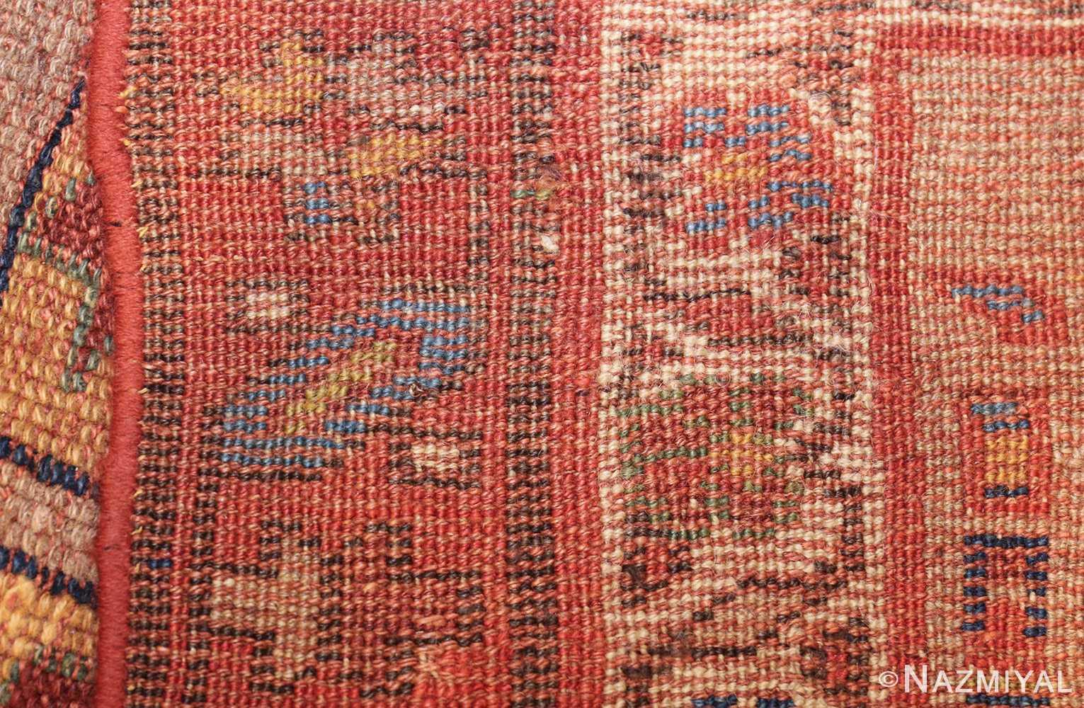 small scatter size tribal antique persian kurdish rug 44932 weave Nazmiyal