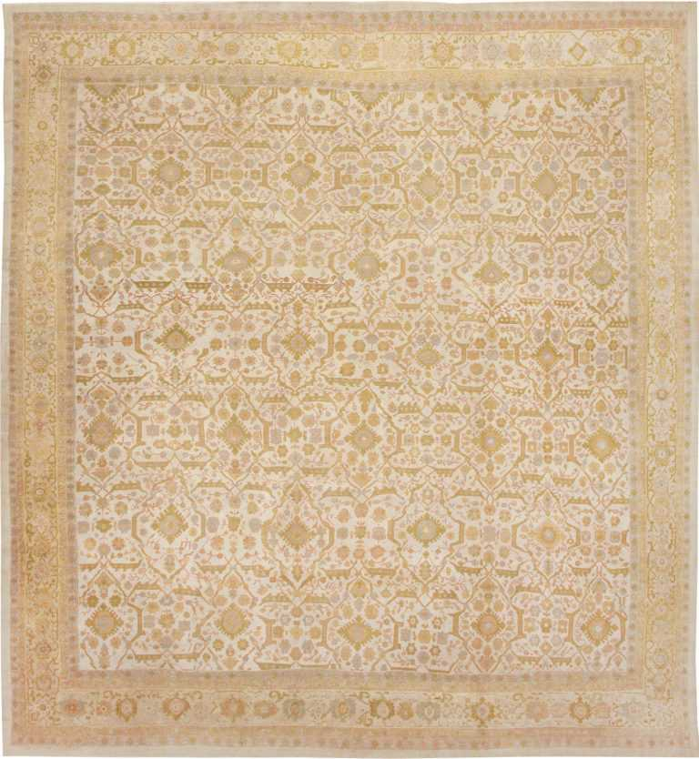 Large Square Antique Sultanabad Persian Rug 1340 by Nazmiyal