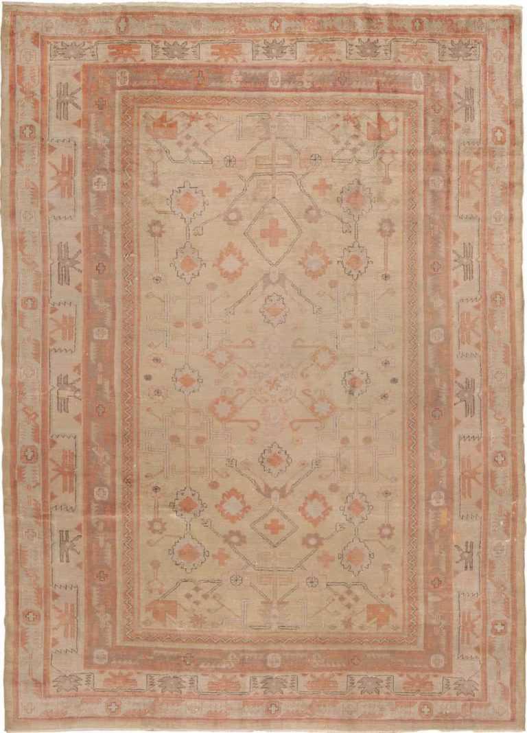Antique Khotan Oriental Carpet 40447 Nazmiyal