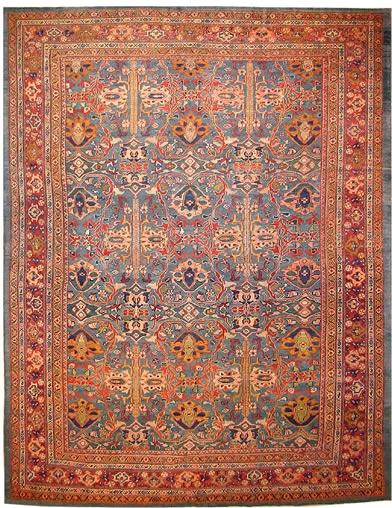Restauration tapis antique après