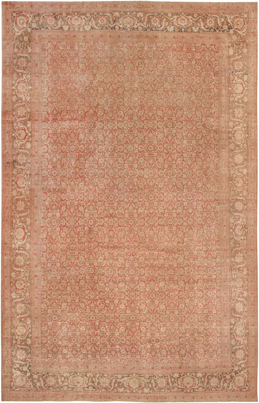 Antique Tabriz Persian Rug 40987