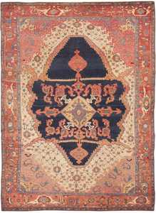Antique Bakshaish Persian Rug 44171 Nazmiyal