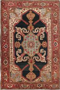 Antique Heriz Serapi Persian Rugs 44177 Nazmiyal
