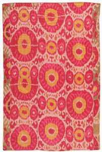 Ikat Uzbek textile 44613 Nazmiyal
