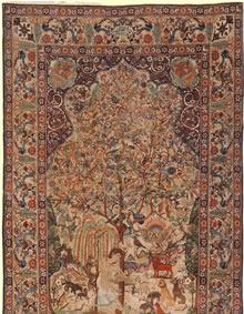 Antique Kerman Persian Rug 2910