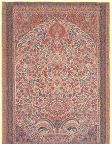 Antique Millefleurs Indian Oriental Rug 8052