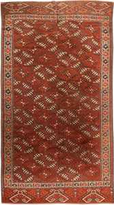 Antique Yomud Oriental Rug 41882 Nazmiyal