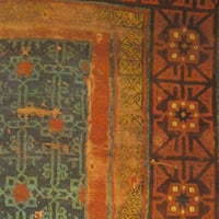 Beylik period carpet from Konya, 14th century, Museum of Turkish and Islamic Art, Istanbul (from V. Gantzhorn, Oriental Carpets, ill. 96).