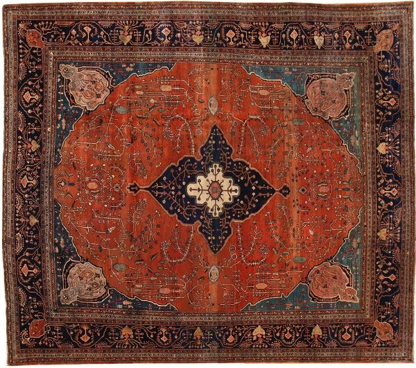 Antique Persian Sarouk Farahan Rug by Nazmiyal