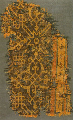 Fragment of a Timurid Rug, Iran, 15th century, Benaki Museum, Athens (from V. Berinstain et al., Great Carpets of the World, fig. 89)