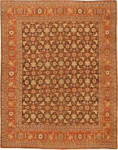 Antique Tabriz Persian Rug 42699 Nazmiyal