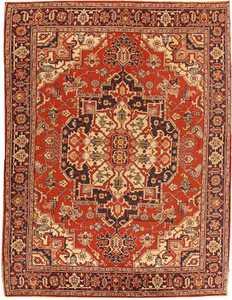 Antique Heriz Serapi Persian Rug 2685 Nazmiyal