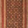 Brown Antique Oriental Oversized Indian Agra Rug 41340 Nazmiyal