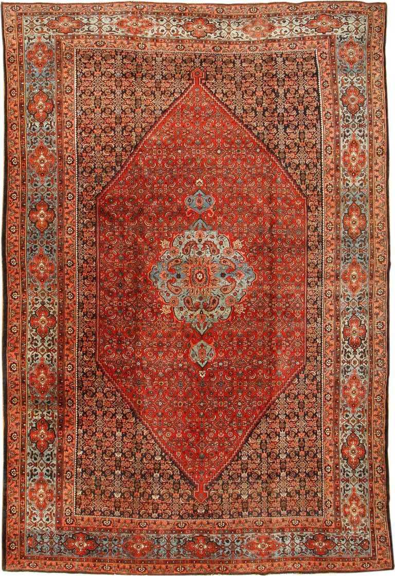Antique Bidjar Persian Rug 42158 Nazmiyal