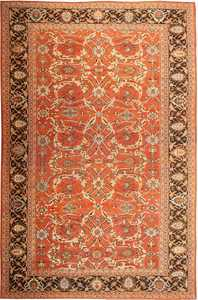 Antique Sultanabad Persian Rug 42746 Nazmiyal