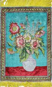 Antique Silk Tabriz Persian Rug 43388 Nazmiyal