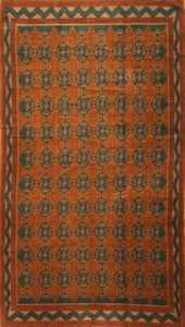 Art Deco Scandinavian Swedish Carpet 3367 Nazmiyal