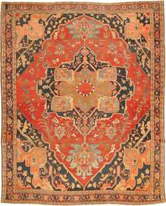 Antique Heriz Serapi Persian Rug 2570 Nazmiyal