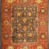 Antique Sultanabad Persian Rug 45212 Nazmiyal