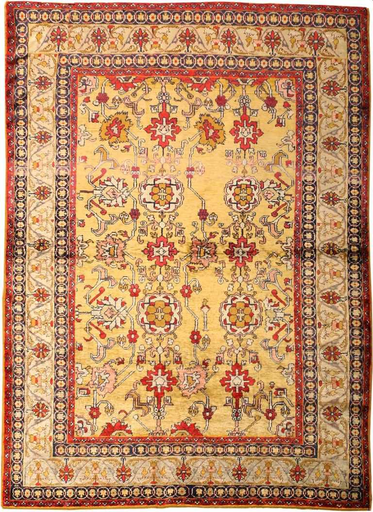 Antique Silk Turkish Rug 1963 Nazmiyal