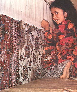 How antique carpets are woven