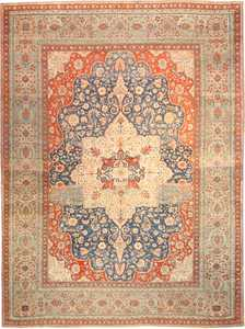 Antique Kashan Persian Rug 42624 Nazmiyal