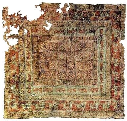 Antique Nomadic Rugs - the Pazyryk Carpet by Nazmiyal