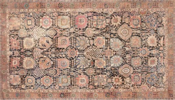 Antique Persian Kerman Vase Carpet by Nazmiyal