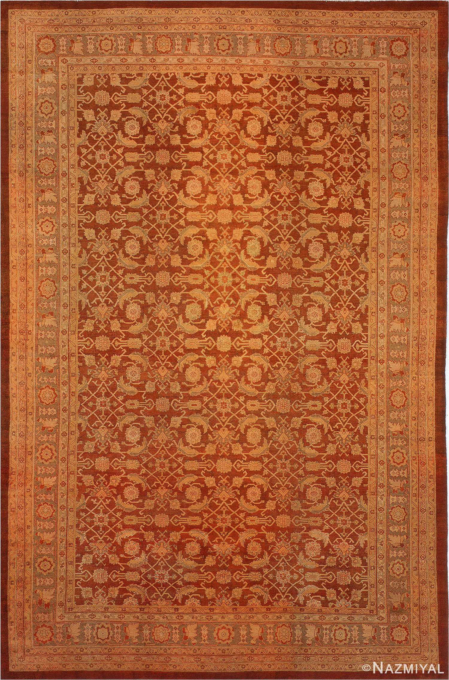 Antique Amritsar Oriental Rug 1574 Nazmiyal
