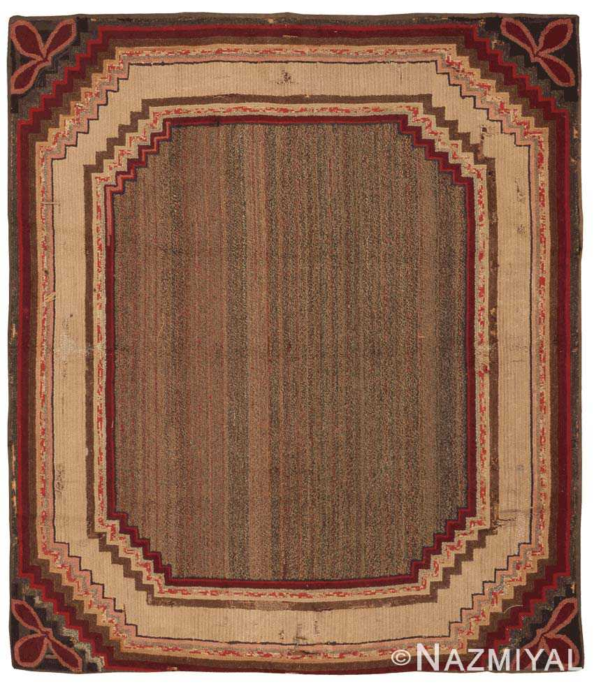 Antique Hooked American Rug 2698 by nazmiyal
