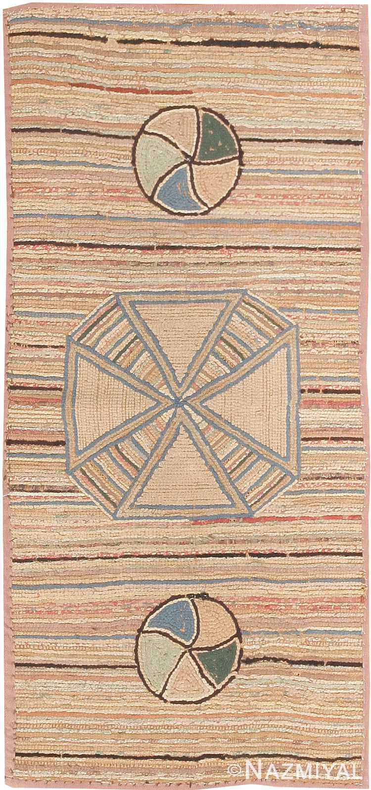 Antique Hooked American Rug 2789 Nazmiyal