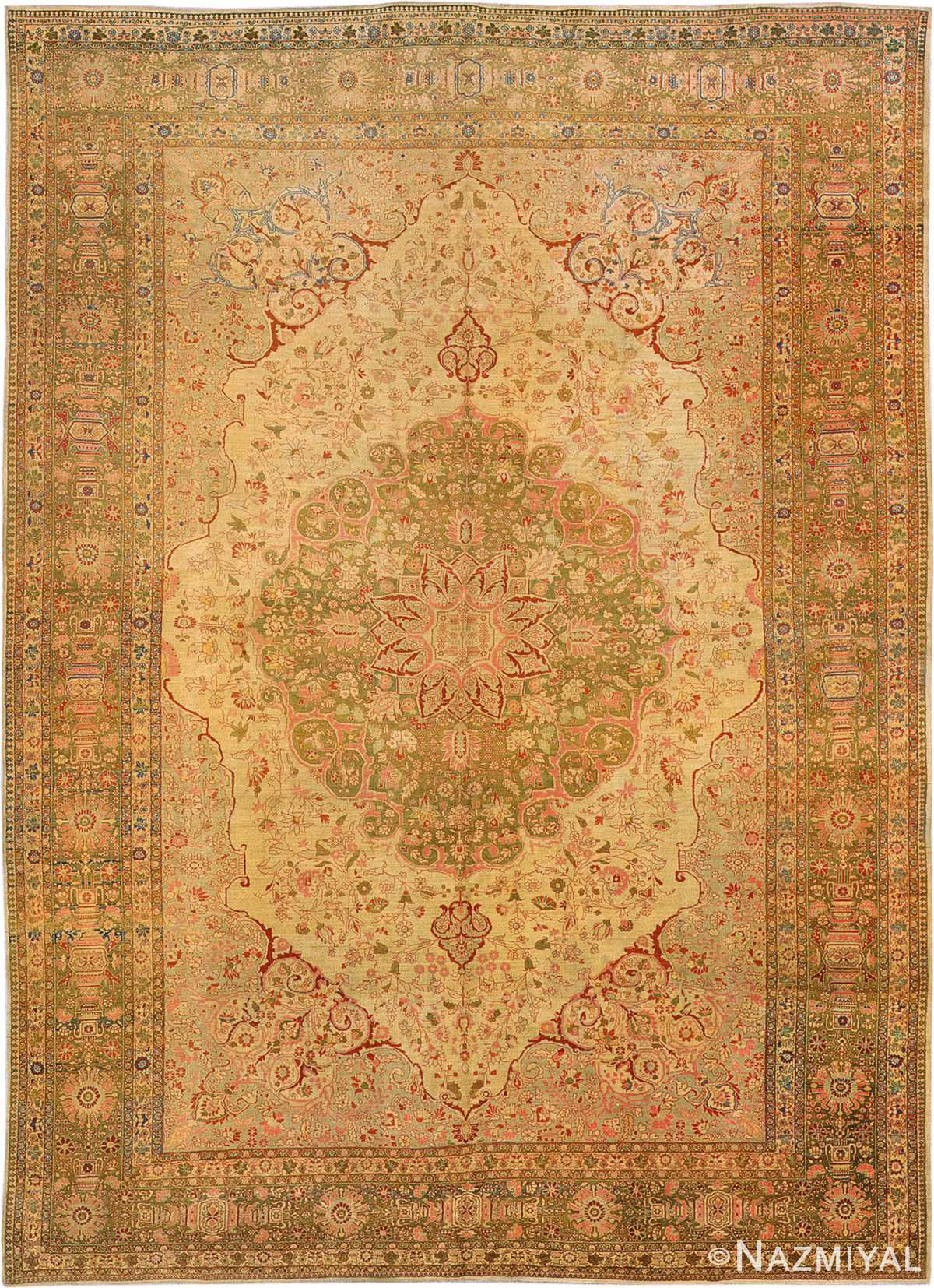 Antique Tabriz Persian Rug 3035 Nazmiyal