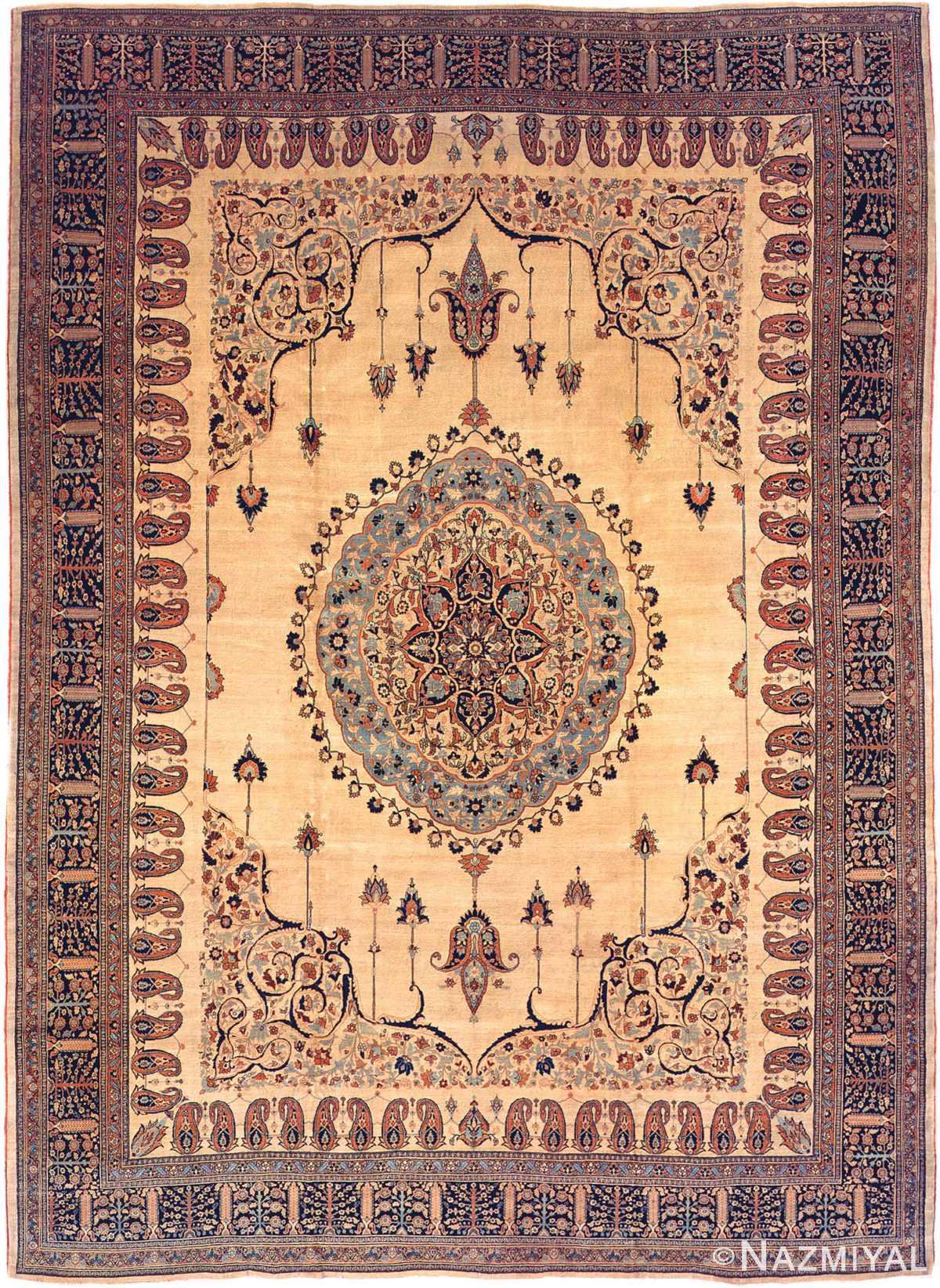 Antique Tabriz Persian Rug 3209 Nazmiyal