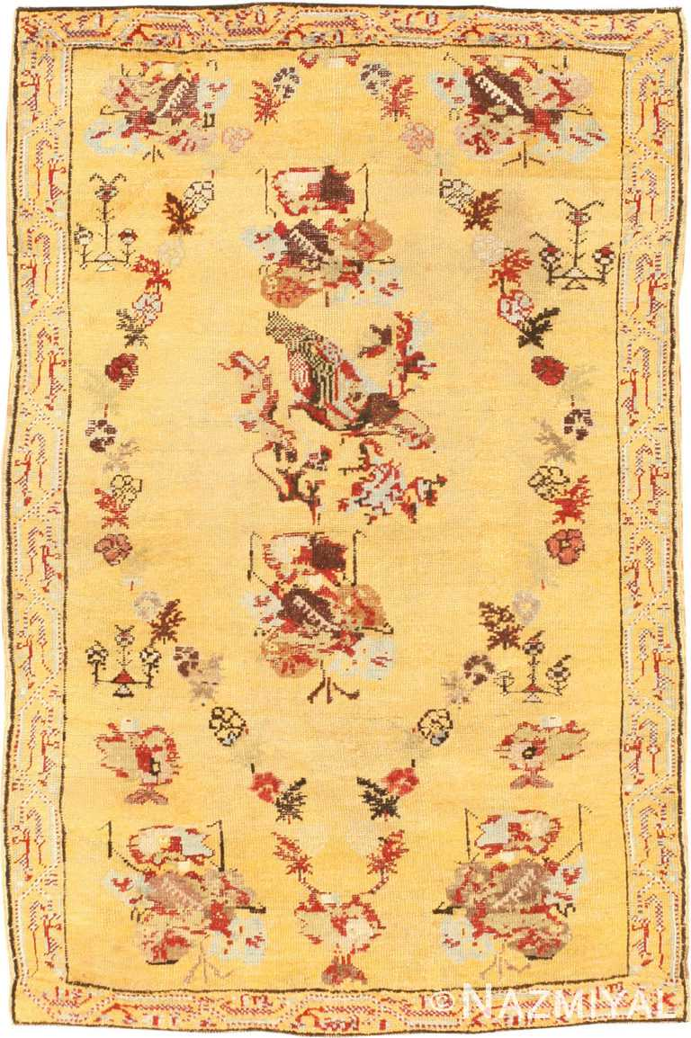 Antique Giordes Turkish Rug 40843 Nazmiyal