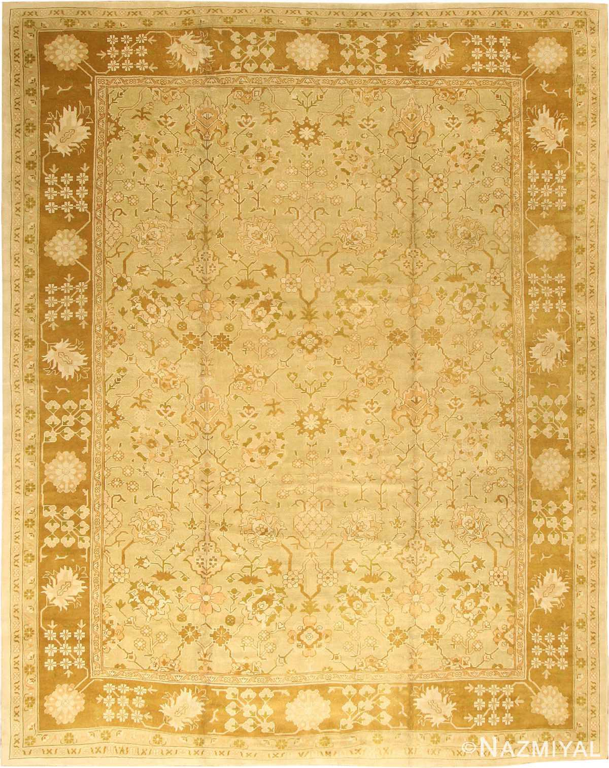 Antique Oushak Turkish Rug 42081 Nazmiyal