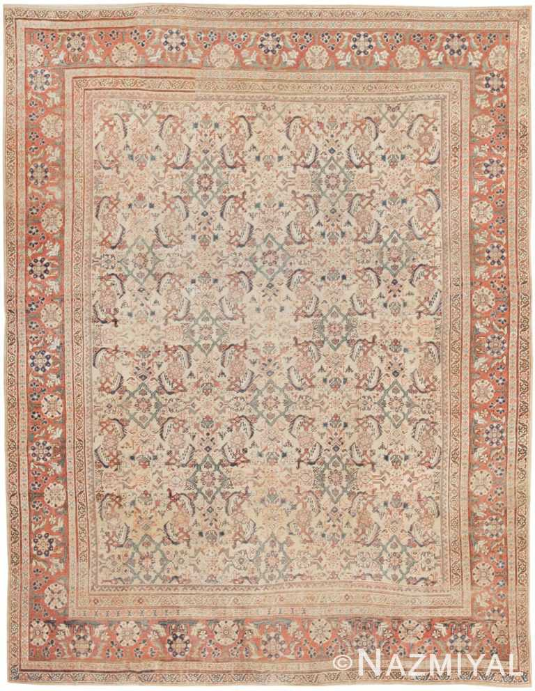 Antique Sultanabad Persian Rug 42301 Nazmiyal