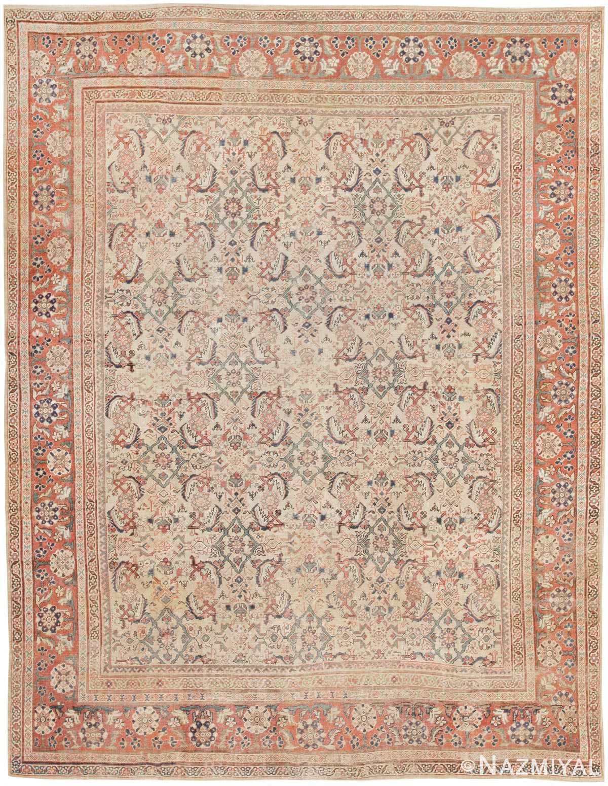 Antique Sultanabad Persian Rug 42301 Nazmiyal
