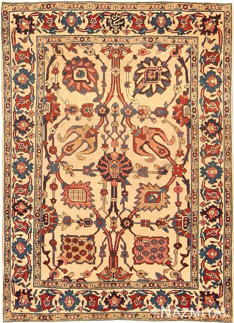 Antique Kerman Persian Rug 42480 Nazmiyal