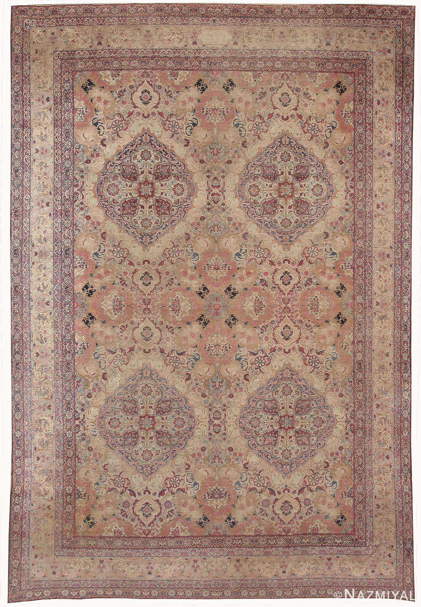 Antique Kerman Persian Rug 42487 Nazmiyal