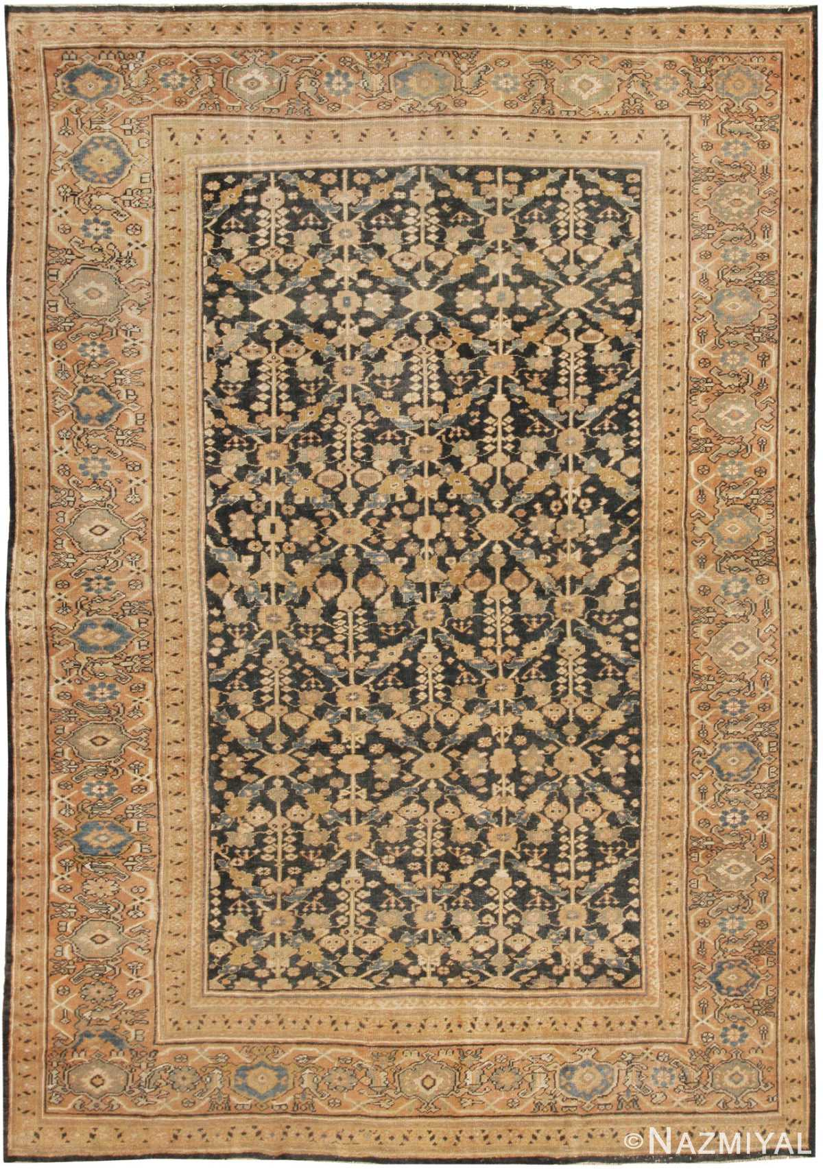 Blue Antique Sultanabad Persian Rug 42589 by Nazmiyal