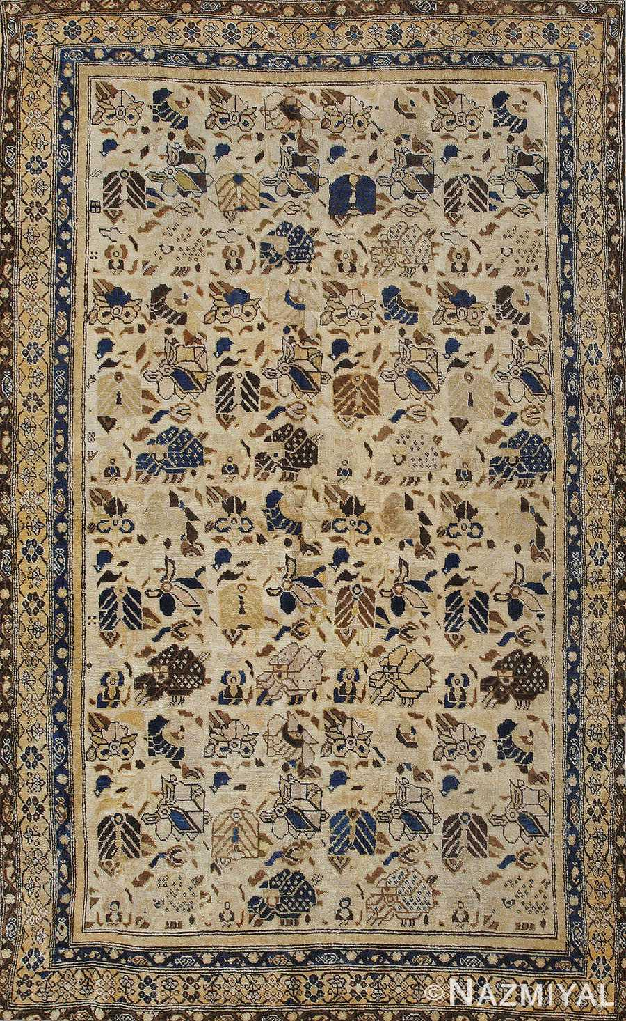 Antique Malayer Persian Rug 42909